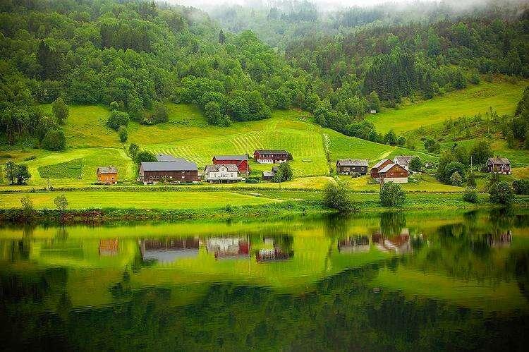 Сказочная деревня в Норвегии